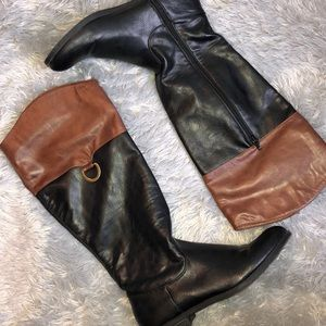 Shoes - Black & Brown Riding Boots